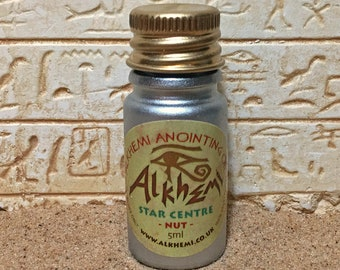 STAR CENTRE OIL: Alkhemi® Anointing Oil individually prepared and empowered with Ancient Egyptian sacred symbols/archetypes.