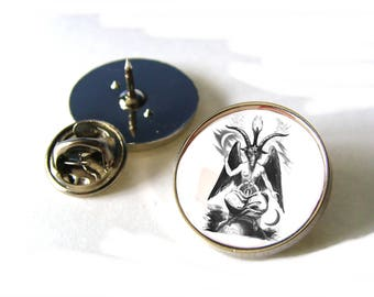 Baphomet Sabbatic Goat Eliphas Levi Mythology Lapel Pin Badge Tie Tack