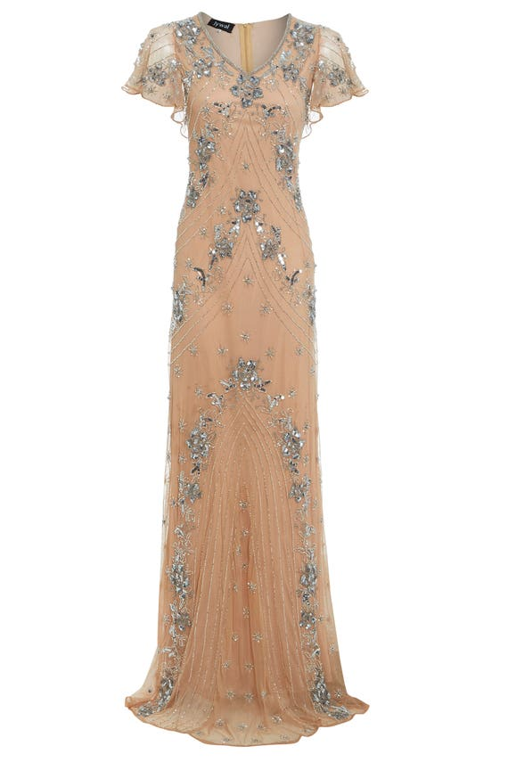 Lucy Embellished Flapper Dress 1920s Great Gatsby Inspired