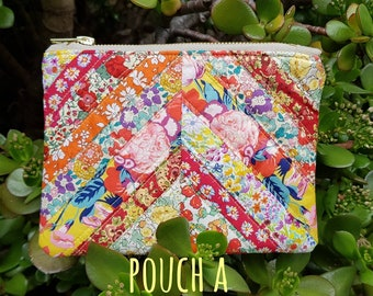 Patchwork Liberty Pouch