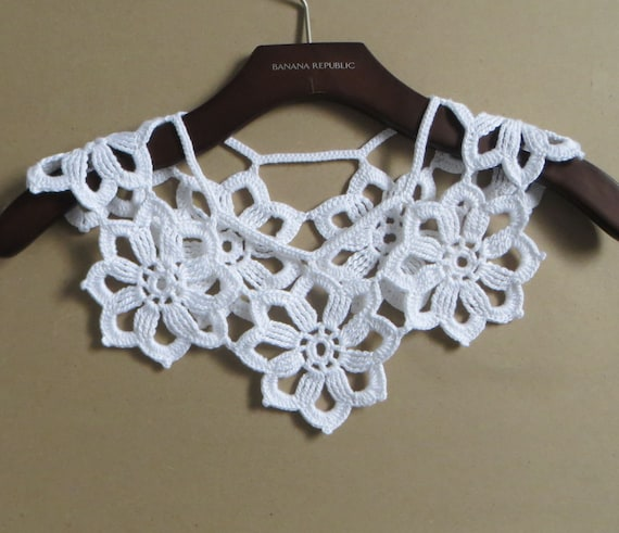 Lace Collar Pattern White Collar Flower Collar Spring Collar