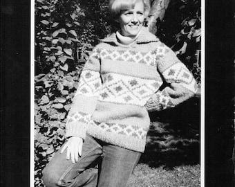 Cowichan Style Pullover Sweater #501 PDF Pattern