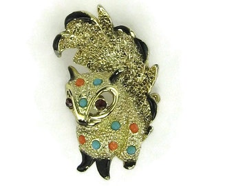 Vintage Squirrel Brooch