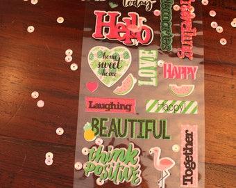 Pretty word stickers