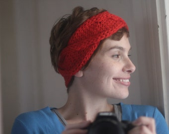 WORKSHELTER Chunky Cabled Headband Knitting Pattern