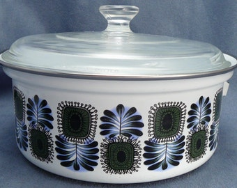 Mid-Century Austrian Enamel Pot Cooking Stovetop Universal Austrian Email
