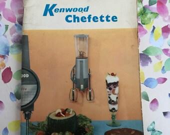 Kenwood Chefette instruction & cookbook- 1960s