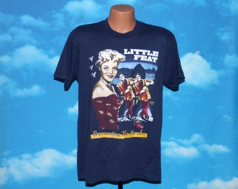 Little Feat Representing the Mambo Navy Blue Tshirt Vintage 1990
