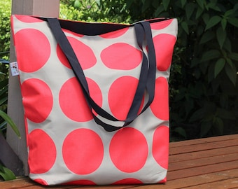 Bright Pink spot Canvas Tote Bag