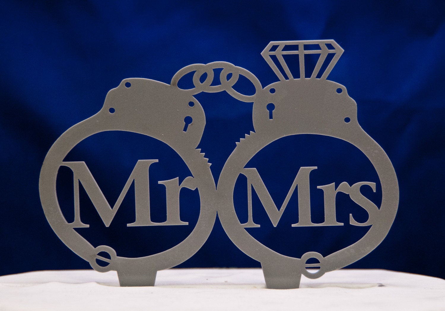 Handcuffs Wedding Cake Topper Mr And Mrs