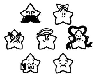 Paper Mario Star Spirits Vinyl Sticker/ Decal