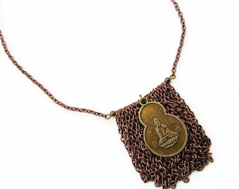 Charm Necklace Buddha Protection Jewelry for women hippie Gifts for moms Buddhist Religious Zen Pendant Meditation Yoga Necklaces