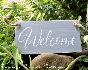 Rustic Signs, Wreath Signs, Wood Signs, Welcome, Handpainted, Nautical, Signs, Coastal Decor, Home Decor, Beach, Rustic