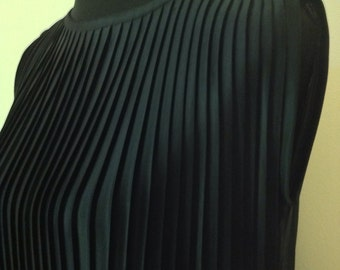 Mod Pleated Black Dress c1960s