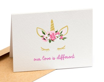 Our Love is Different - Valentine's Day, Anniversary, Just Because Greeting Card