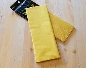 Canary Yellow Tissue Paper Wrap - 10 Sheets - Baking Candy Making Craft Packaging Party Supplies