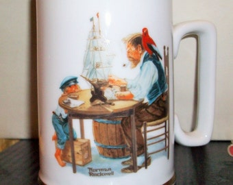 "Norman Rockwell ""For a Good Boy"" Mug  Long John Silver Collectable  bx2   485631675"