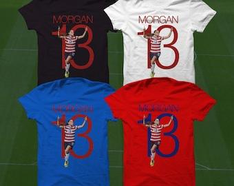 Alex Morgan T-Shirt - USWNT Player - Size S to Xxxl - Custom Apparel soccer,  world cup tshirt, Morgan tee, uswnt tshirt