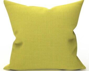 DECORATIVE THROW PILLOW Cover - Citron Yellow Woven Pillow - Yellow Throw Pillow, Designer Pillow, Home Decor