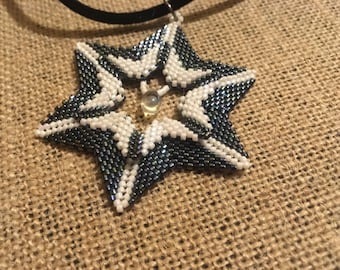 Layered Star Pendant with matching Earrings