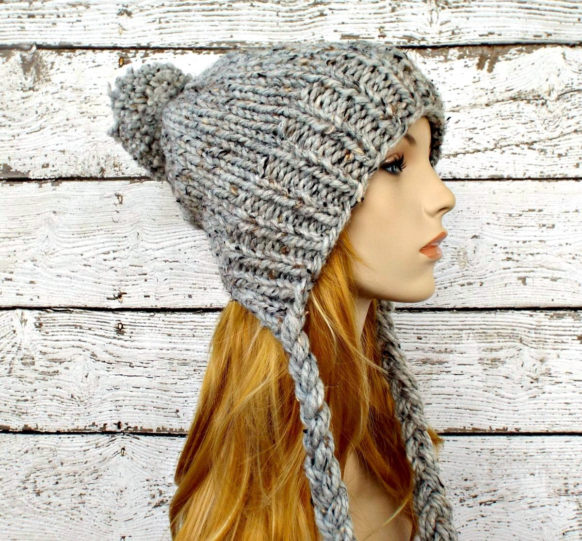 Instant Download Knitting Pattern Knit Ear Flap Hat Pattern