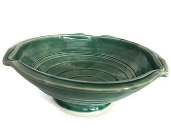 Unique Fruit Bowl, Handmade Ceramic teal Bowl - Fruit Bowl, Serving Bowl, Decorative Bowl, turquoise Bowl, Unique Bowl, Great Gift!