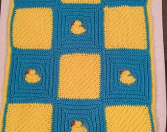 Yellow Duck Blanket