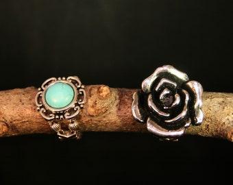 Floral Adjustable Rings