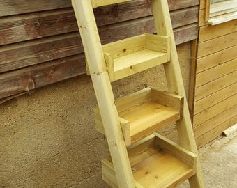 Wooden Garden Shelves