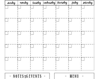whiteboard calendar - custom - dry erase calendar - 18x24 #1836