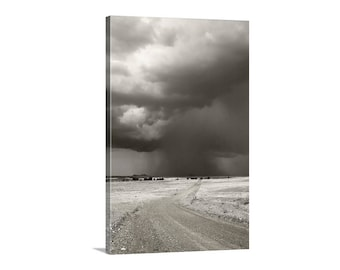 Storm Photography, Prairie Landscape Art, Thunderstorm Picture, Country Roads, Arizona Monsoon, Canelo Hills, Vertical Art, Art on Canvas
