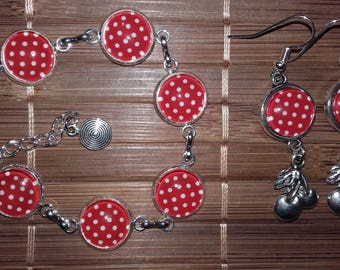 Set of cherries and red dots!