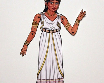 Zenobia Ancient Queen Articulated Paper Doll, Women of History