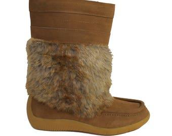 Women's Mukluks Outdoor Winter Fur Boots Size 7