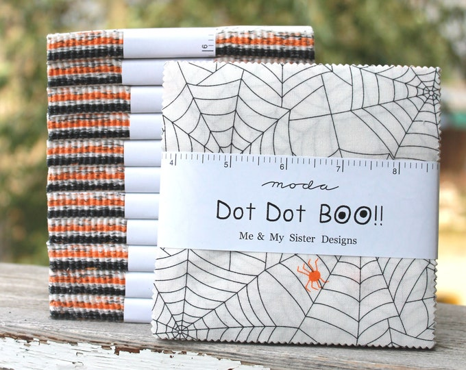 "Dot Dot Boo by Me and My Sister for Moda Charm Pack 5"" Squares"