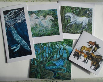 Pack of five Art Cards.