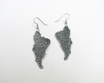 on gossamer wings earrings - silver