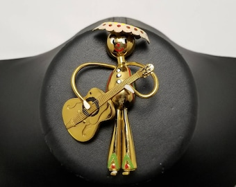 Painted Brass Man Pin