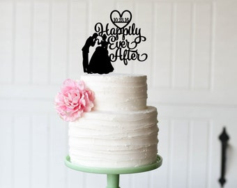 Superior Cinderella Wedding Cake Topper Happily Ever After Cake Topper Personalized Cake  Topper
