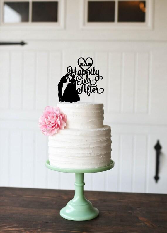Cinderella Wedding Cake Topper Happily Ever After Cake Topper