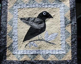 Raven, Crow, blackbird, folk art, primitive,