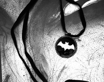 Bat leather string necklace