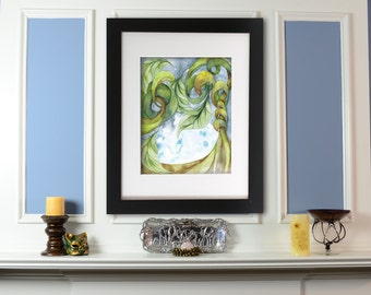 Giclee Print: Hanging Garden Watercolor Painting