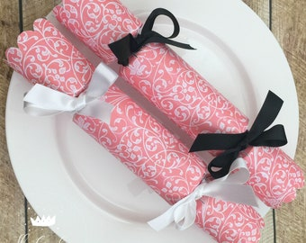 Diy cracker kit etsy pink swirl design wedding personalised do it yourself 8 cracker kit diy solutioingenieria Choice Image