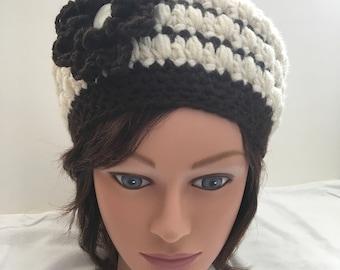 "Hand Crocheted Women's ""Convertible"" Hat"