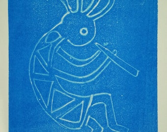Kokopelli Original Hand Pulled Print