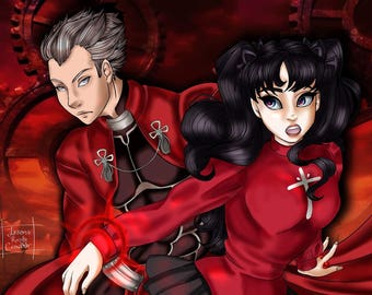 Fate/Stay Night Archer and Rin