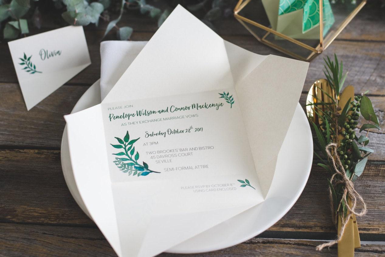 Wedding invitations origami invitations custom invitations zoom jeuxipadfo Images