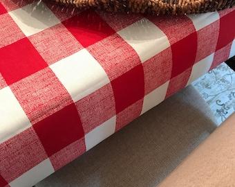 Patriotic Tablecloth | Picnic Tablecloth | Buffalo Plaid Tablecloth | Plaid Red Tablecloth | Woodland Tablecloth | Buffalo Plaid Table Runne