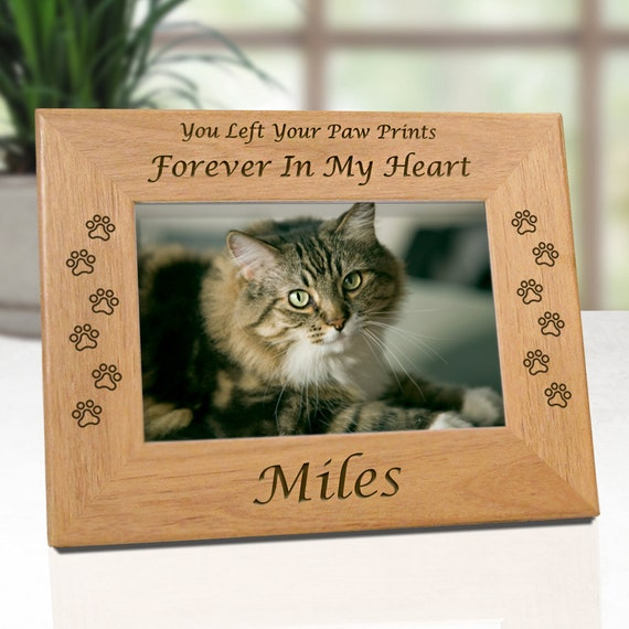 LOW COST SHIPPING Cat Memorial Picture Frame You Left Your